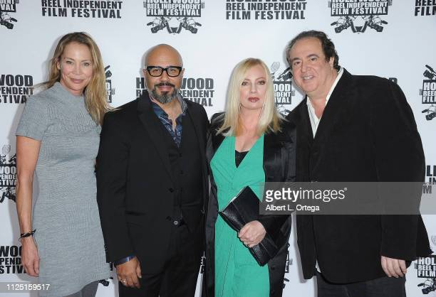 Kathleen Kinmont Chris Roe Traci Lords and Nick Vallelonga arrive for The 2019 Hollywood Reel Independent Film Festival held at Regal LA Live Stadium...