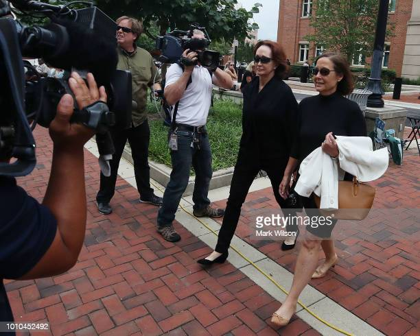 Kathleen Manafort leaves the Albert V Bryan United States Courthouse after a full day of her husband Paul Manafort's trial August 3 2018 in...