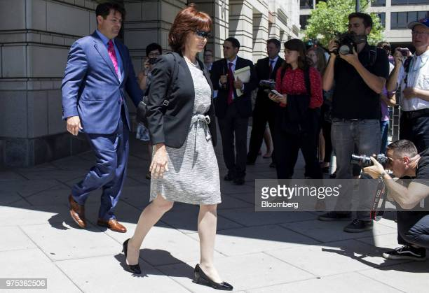 Kathleen Manafort wife of Donald Trump former campaign manager Paul Manafort exits federal court in Washington DC US on Friday June 15 2018...