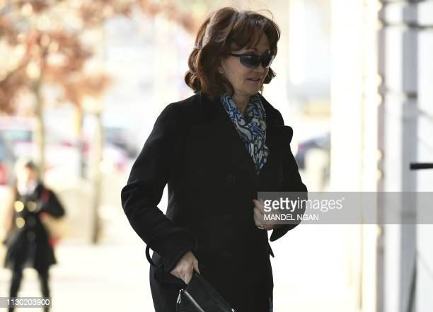 Kathleen Manafort wife of former campaign chairman Paul Manafort arrives at the US District Court in Washington DC on March 13 2019 Paul Manafort who...