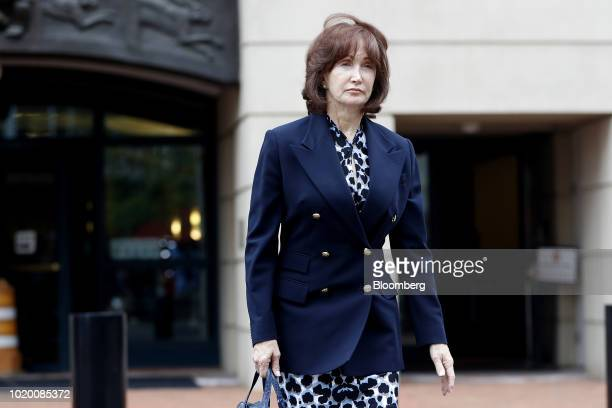 Kathleen Manafort wife of former Donald Trump campaign manager Paul Manafort exits District Court in Alexandria Virginia US on Monday Aug 20 2018...