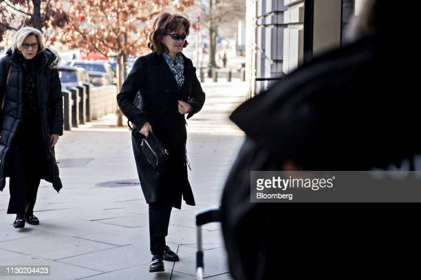 Kathleen Manafort wife of former Donald Trump Campaign Manager Paul Manafort arrives to federal court in Washington DC US on Wednesday March 13 2019...