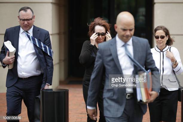 Kathleen Manafort wife of former Trump campaign chairman Paul Manafort and lawyer Brian Ketcham leave the Albert V Bryan United States Courthouse at...
