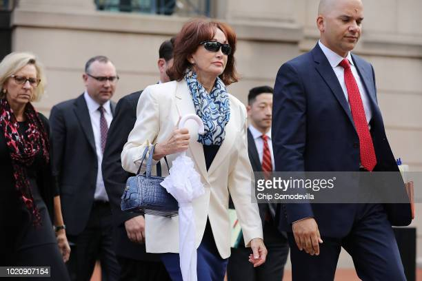 Kathleen Manafort wife of former Trump campaign chairman Paul Manafort and attorney Jay Nanavati leave the Albert V Bryan US Courthouse after the...