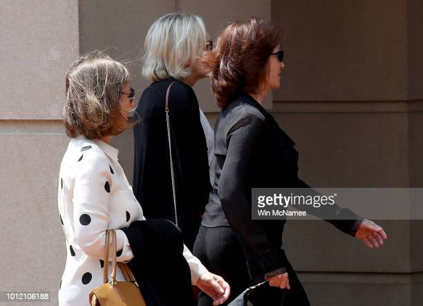 Kathleen Manafort wife of former Trump campaign chairman Paul Manafort arrives at the Albert V Bryan United States Courthouse August 6 2018 in...