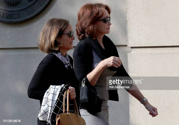 Kathleen Manafort wife of former Trump campaign chairman Paul Manafort arrives at the Albert V Bryan United States Courthouse August 7 2018 in...