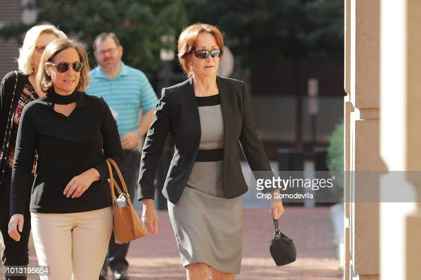 Kathleen Manafort wife of former Trump campaign chairman Paul Manafort arrives at the Albert V Bryan United States Courthouse for the seventh day of...