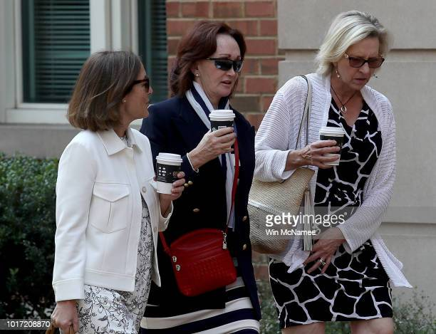 Kathleen Manafort wife of former Trump campaign chairman Paul Manafort arrives at the Albert V Bryan United States Courthouse August 15 2018 in...
