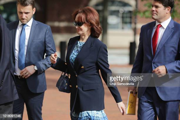 Kathleen Manafort wife of former Trump campaign chairman Paul Manafort arrives at the Albert V Bryan US Courthouse during the second day of jury...