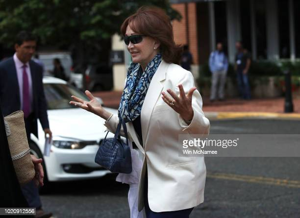 Kathleen Manafort wife of former Trump campaign chairman Paul Manafort enters the Albert V Bryan United States Courthouse before the jury announced...