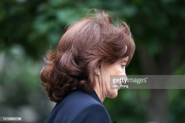 Kathleen Manafort wife of former Trump campaign chairman Paul Manafort leaves the Albert V Bryan US Courthouse during the third day of jury...