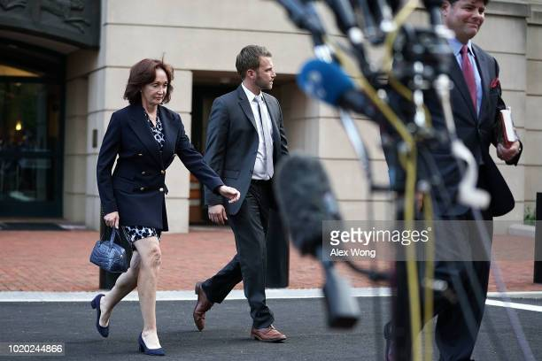 Kathleen Manafort wife of former Trump campaign chairman Paul Manafort leaves the Albert V Bryan US Courthouse after the jury did not reach a verdict...