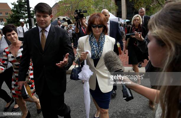 Kathleen Manafort wife of former Trump campaign chairman Paul Manafort leaves the Albert V Bryan United States Courthouse August 21 2018 after the...
