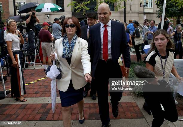 Kathleen Manafort wife of former Trump campaign chairman Paul Manafort leaves the Albert V Bryan United States Courthouse with defense lawyer Jay...