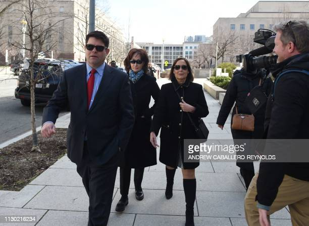 Kathleen Manafort wife of former Trump campaign chairman Paul Manafort leaves US District Court in Washington DC on March 13 2019 Manafort already...