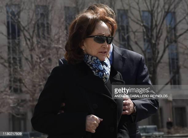 Kathleen Manafort wife of former Trump campaign chairman Paul Manafort leaves US District Court in Washington DC on March 13 2019 President Donald...