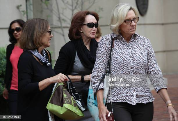 Kathleen Manafort wife of former Trump campaign chairman Paul Manafort departs the Albert V Bryan United States Courthouse August 7 2018 in...