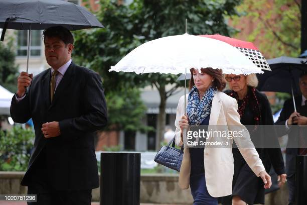 Kathleen Manafort wife of former Trump campaign chairman Paul Manafort returns to the Albert V Bryan US Courthouse for the fourth day of jury...