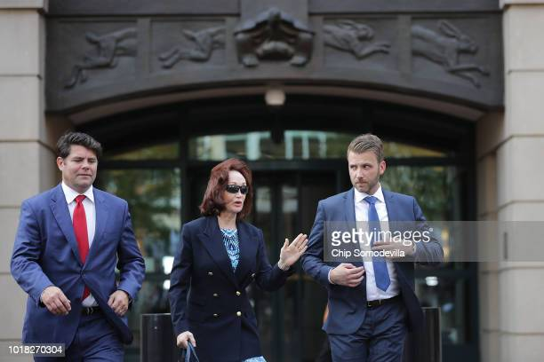 Kathleen Manafort wife of former Trump campaign chairman Paul Manafort walks out of the Albert V Bryan US Courthouse during the second day of jury...