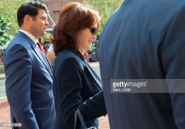 Kathleen Manafort wife of former Trump campaign manager Paul Manafort arrives for the second day of jury deliberations in the bank and tax fraud case...