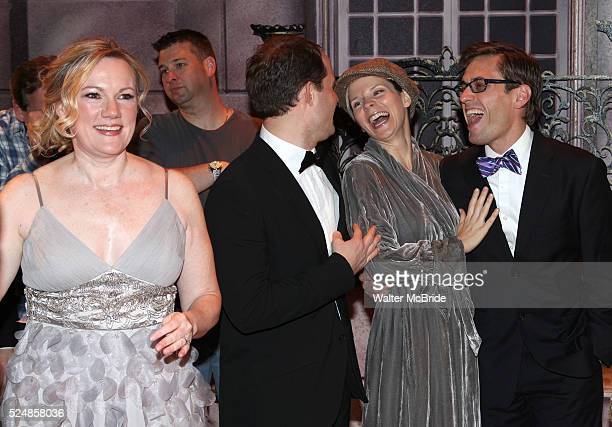 Kathleen Marshall David Eggers Kelli o'Hara Eric Sciotto during the Broadway Opening Night Gypsy Robe Ceremony honoring Cameron Adams in 'Nice Work...