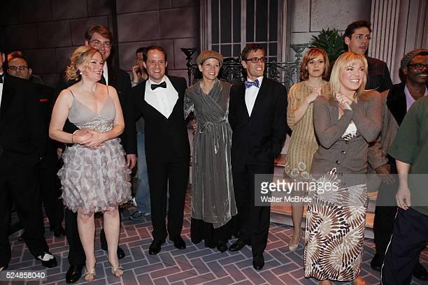 Kathleen Marshall David Eggers Kelli o'Hara Eric Sciotto Robyn Hurder Company during the Broadway Opening Night Gypsy Robe Ceremony honoring Cameron...