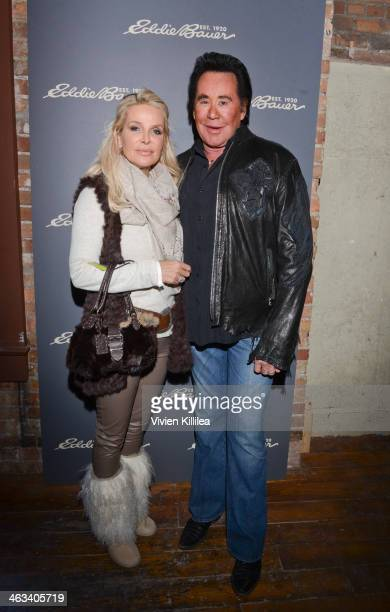 Kathleen McCrone and Wayne Newton attend The Eddie Bauer Adventure House Day 1 2014 Park City on January 17 2014 in Park City Utah