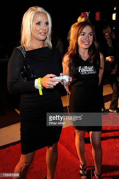 Kathleen McCrone arrives at the Fallout New Vegas launch event featuring Vampire Weekend at Rain Nightclub inside the Palms Casino Resort on October...
