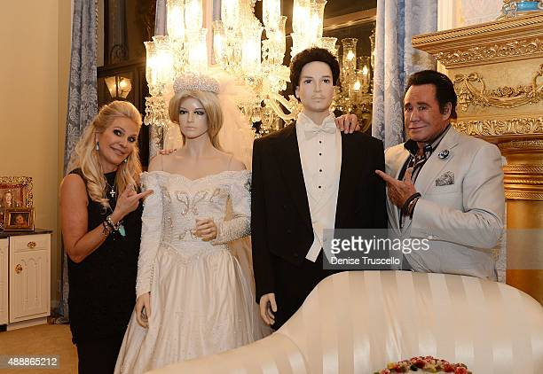 Kathleen McCrone Newton and Wayne Newton attend the VIP opening of Casa De Shenandoah on September 17 2015 in Las Vegas Nevada