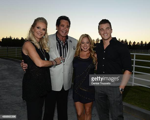 Kathleen McCrone Newton and Wayne Newton pose for photos at the VIP opening of Casa De Shenandoah on September 17 2015 in Las Vegas Nevada