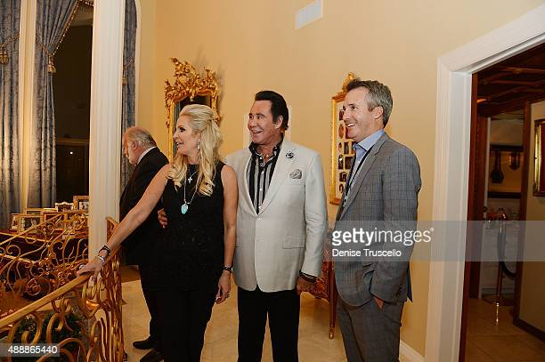 Kathleen McCrone Newton Wayne Newton and Dave Kirvin attend the VIP opening of Casa De Shenandoah on September 17 2015 in Las Vegas Nevada