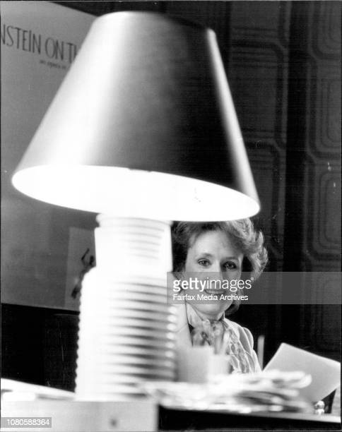 Kathleen Norris head of the Australian film institute in her office 213 palmer st Darlinghurst October 19 1983