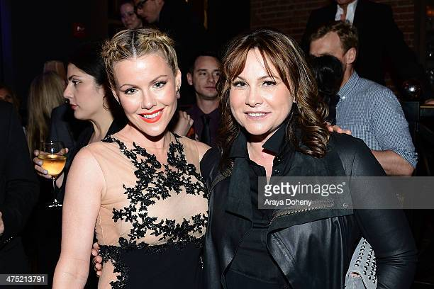 Kathleen Robertson and executive producer Kerry Ehrin attend AE's 'Bates Motel' and 'Those Who Kill' Premiere Party at Warwick on February 26 2014 in...