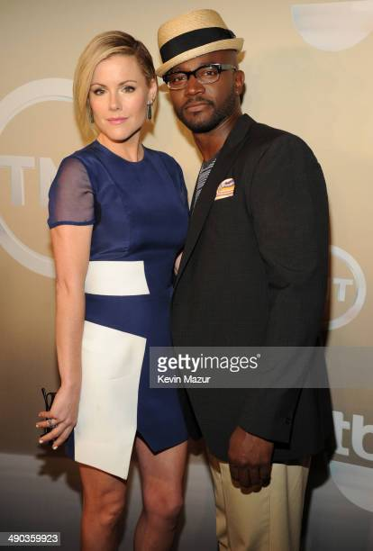 Kathleen Robertson and Taye Diggs attend the TBS / TNT Upfront 2014 at The Theater at Madison Square Garden on May 14 2014 in New York City...