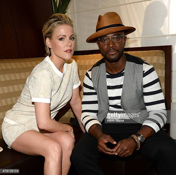 Kathleen Robertson and Taye Diggs attend the Turner Upfront 2015 at Madison Square Garden on May 13 2015 in New York City 25201_002_KM_0098JPG