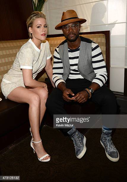 Kathleen Robertson and Taye Diggs attend the Turner Upfront 2015 at Madison Square Garden on May 13 2015 in New York City 25201_002_KM_0096JPG