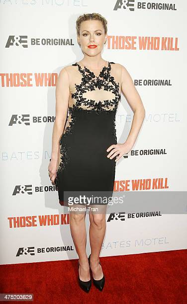 Kathleen Robertson arrives at the premiere party for AE's season 2 of 'Bates Motel' and series premiere of 'Those Who Kill' held at Warwick on...