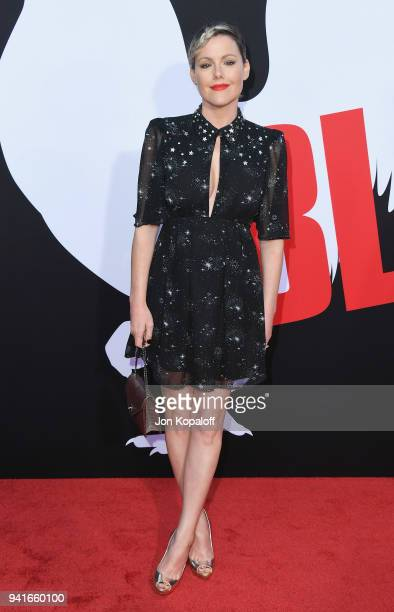 Kathleen Robertson attends Universal Pictures' Blockers Premiere at Regency Village Theatre on April 3 2018 in Westwood California