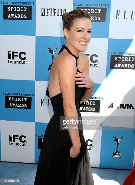 Kathleen Robertson during 2007 Film Independent's Spirit Awards Arrivals at Santa Monica Pier in Santa Monica California United States