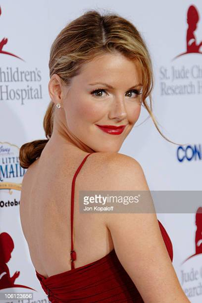 Kathleen Robertson during Runway For Life Benefiting St Jude Children's Research Hospital Arrivals at Beverly Hilton in Beverly Hills California...