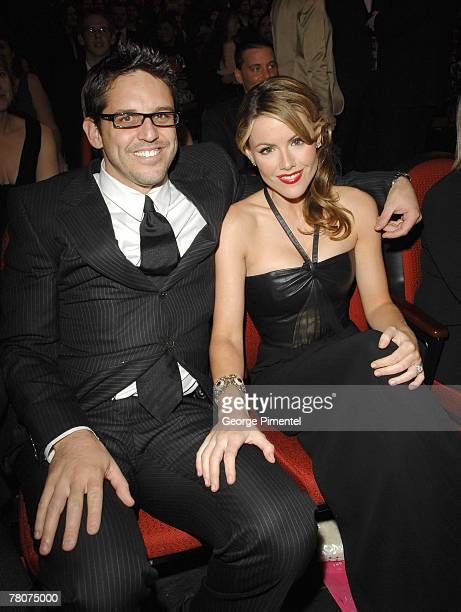 """Kathleen Robertson from""""The business""""with her husband Chris attends The 22nd Annual Gemini Awards at the Conexus Arts Centre on October 28, 2007 in..."""
