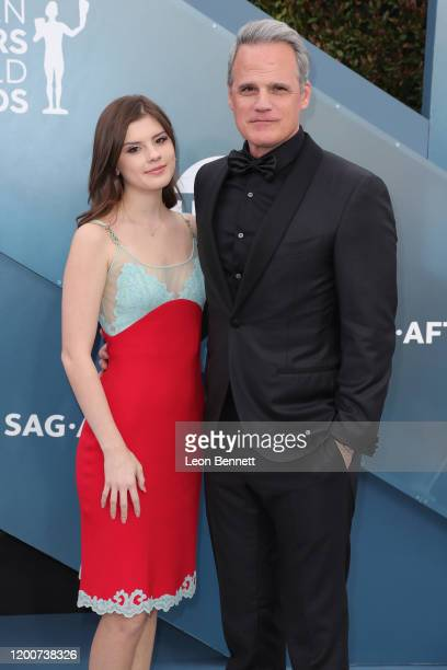 Kathleen Rose Park and Michael Park attends 26th Annual Screen Actors Guild Awards at The Shrine Auditorium on January 19 2020 in Los Angeles...