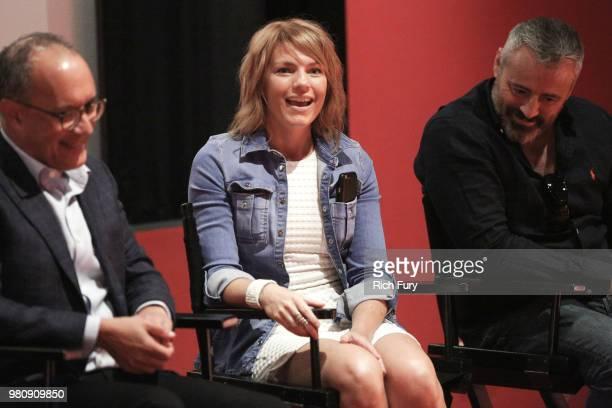 Kathleen Rose Perkins Jeffrey Klarik Matt LeBlanc David Crane and Merrill Markoe attend the 'Episodes' screening and panel at WME Agency on June 21...