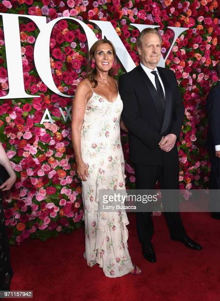 Kathleen Rosemary Treado and Jeff Daniels attend the 72nd Annual Tony Awards at Radio City Music Hall on June 10 2018 in New York City