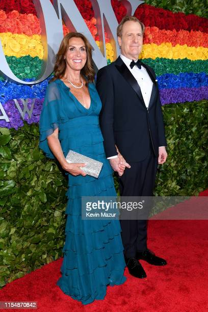 Kathleen Rosemary Treado and Jeff Daniels attend the 73rd Annual Tony Awards at Radio City Music Hall on June 09 2019 in New York City
