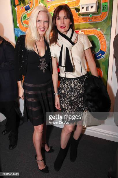 Kathleen Ryan and Anne Bridget Cohen attend Kristin Simmons solo show Desperate Pleasures on October 19 2017 in New York City