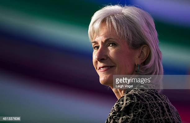 Kathleen Sebelius speaks during The Business Of Health Spotlight Health Closing Session A Conversation with The Honorable Kathleen Sebelius at the...
