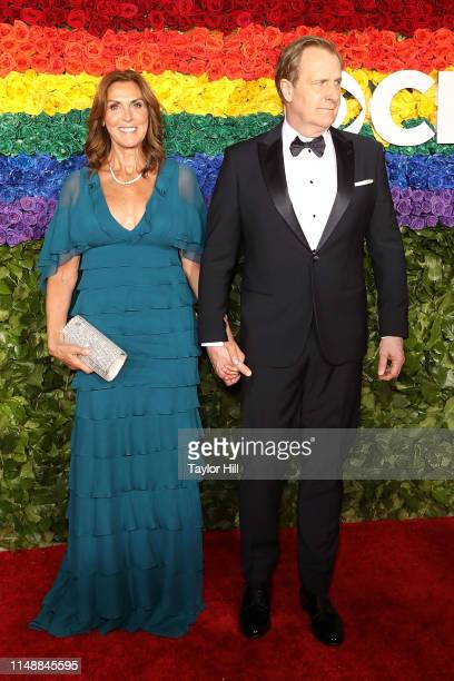 Kathleen Treado and Jeff Daniels attend the 2019 Tony Awards at Radio City Music Hall on June 9 2019 in New York City