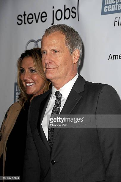 Kathleen Treado and Jeff Daniels attend the 53rd New York Film Festival Steve Jobs screening at Alice Tully Hall on October 3 2015 in New York City