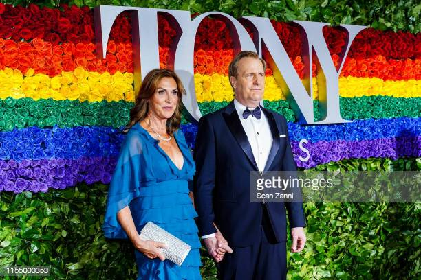 Kathleen Treado and Jeff Daniels attend the 73rd Annual Tony Awards at Radio City Music Hall on June 09 2019 in New York City